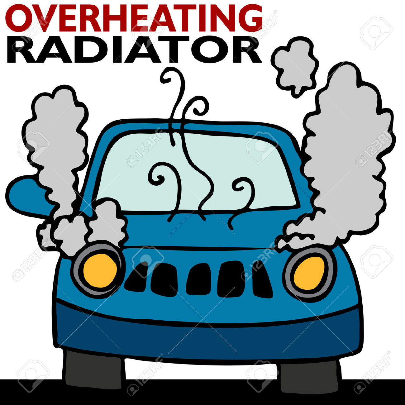 Overheating Radiator Royalty Free Cliparts, Vectors, And Stock.