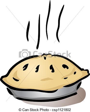 Clip Art of Fresh whole pie.