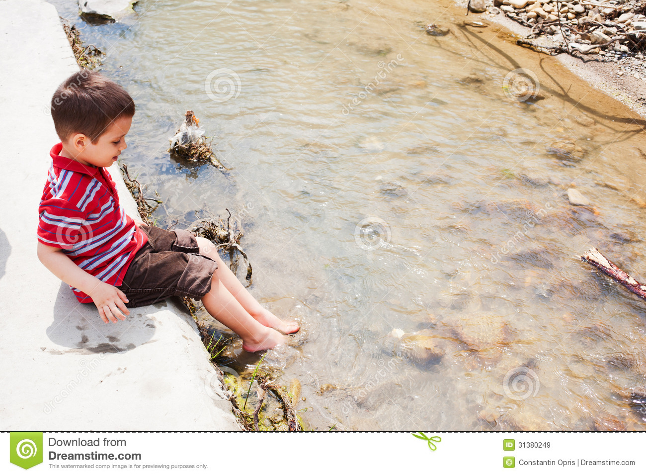 Cooling Feet In Water Royalty Free Stock Images.