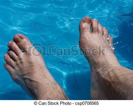Stock Images of Wet Feet.