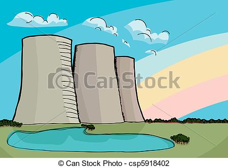 Cooling towers Stock Illustrations. 1,266 Cooling towers clip art.