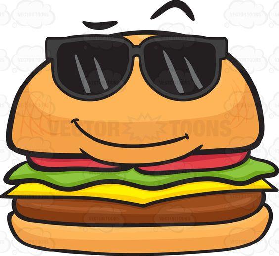 Cool Looking Cheeseburger Wearing Shades.