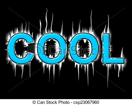Stock Illustration of Cool Word Means Coldness Frost And Frosty.