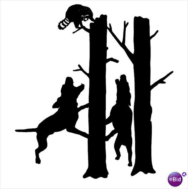 Coon Hunting Clip Art.