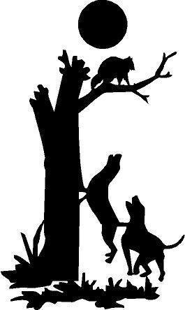 Coon Hunting Clipart.
