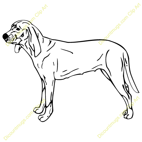 Gallery For > Coonhound Dog Clipart.
