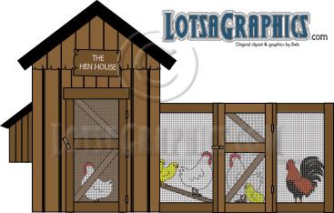 Chicken coop clipart free.