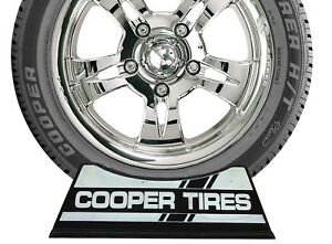 Details about Cooper Tires Display Rack Stand Racing Stripe Logo Set of 2  pcs.