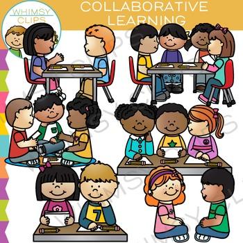 Collaborative Learning Clip Art.