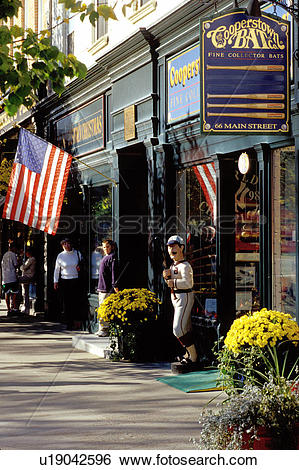 Stock Images of Cooperstown, New York, NY, Cooperstown Bat Company.