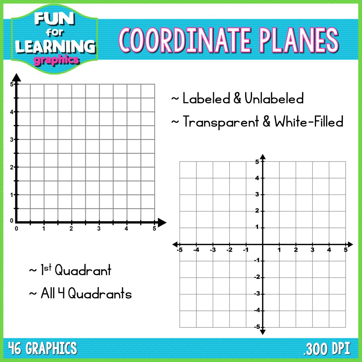 Coordinate Planes (Grids) Clipart.
