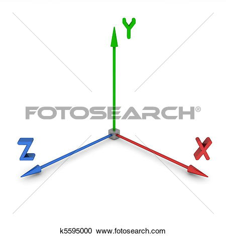 Stock Illustrations of 3D Space Coordinate System XYZ k5595000.