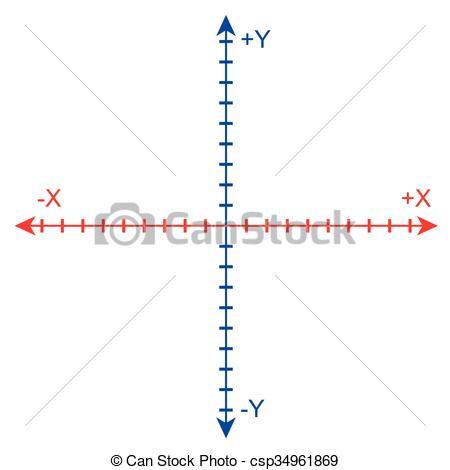 Clip Art Vector of Cartesian Coordinate System vector.