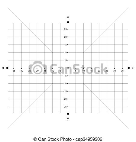 Vector Clipart of Cartesian Coordinate System vector.