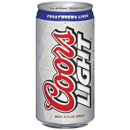 Coors Light Beer Can Print.