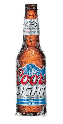 Coors Light Bottle transparent PNG.