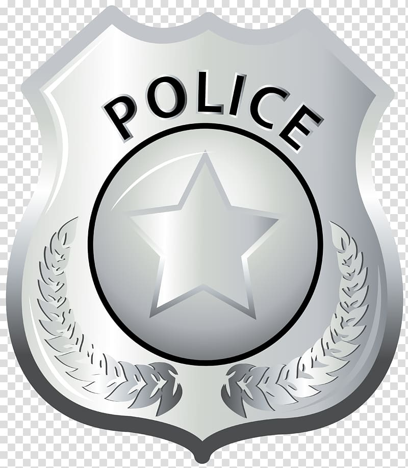 Silver police badge illustration, Badge Police officer Lapel.