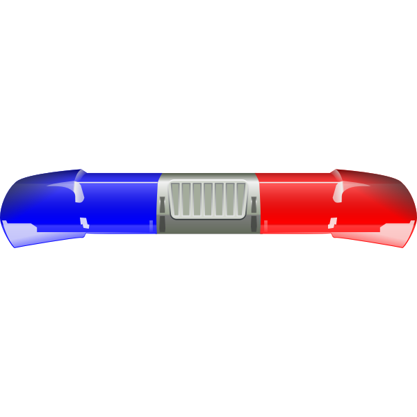 Police car lights bar vector illustration.