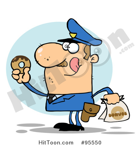Police Officer Clipart #95550: Hungry Caucasian Cop Licking His Lips.