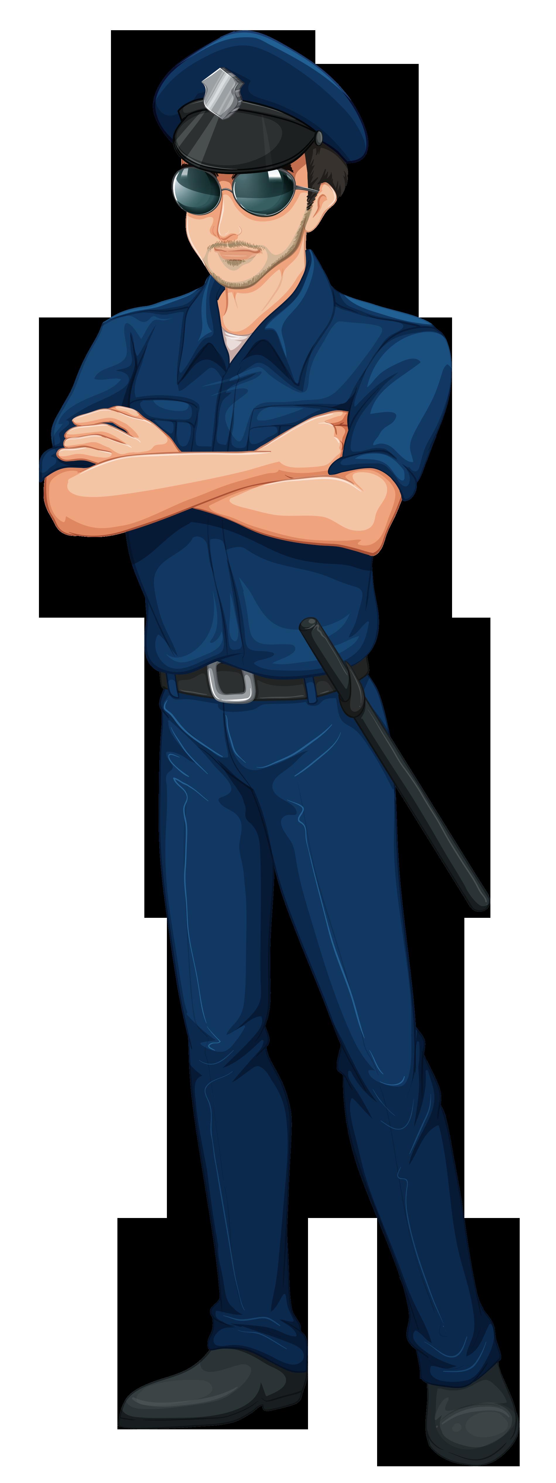 Cop Policeman PNG Clip Art Image.