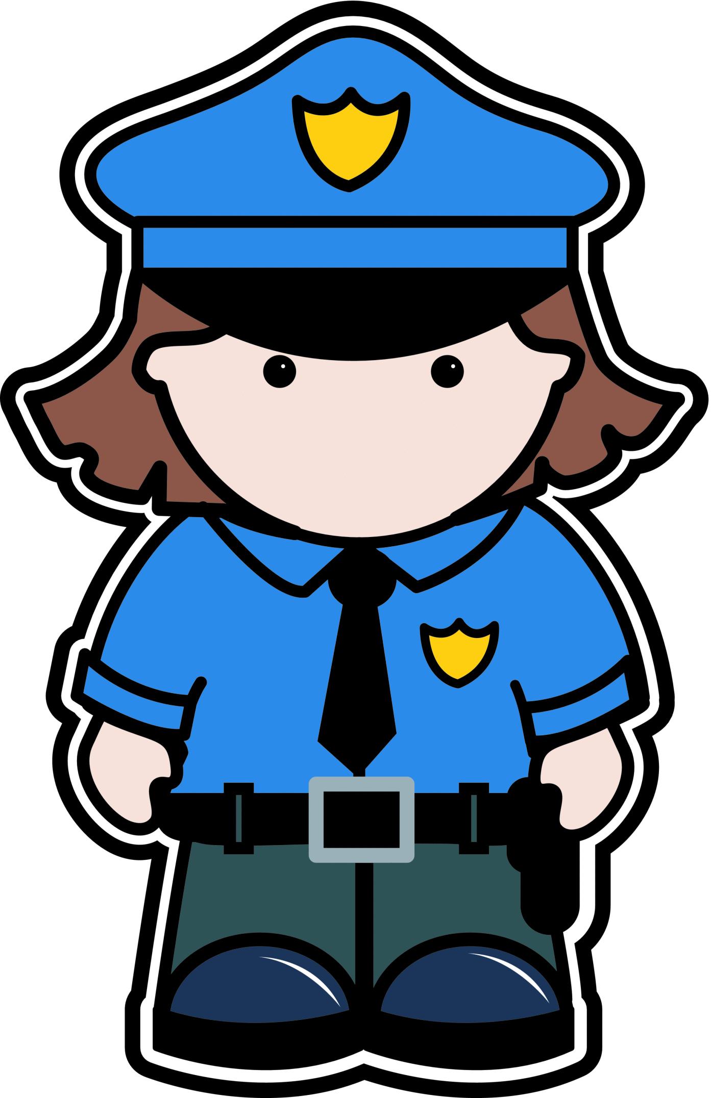 Female cop clipart.