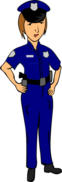 Female cop clipart.