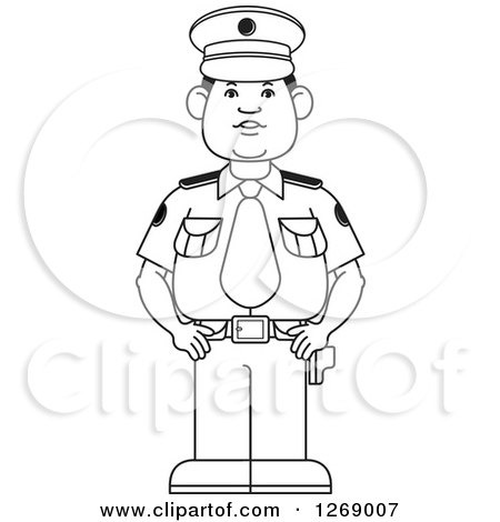 Police Uniform Clipart Black And White.