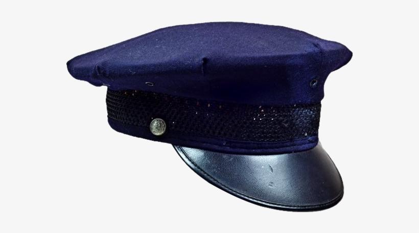 Fun Vintage Cop Hat In Dark Blue.