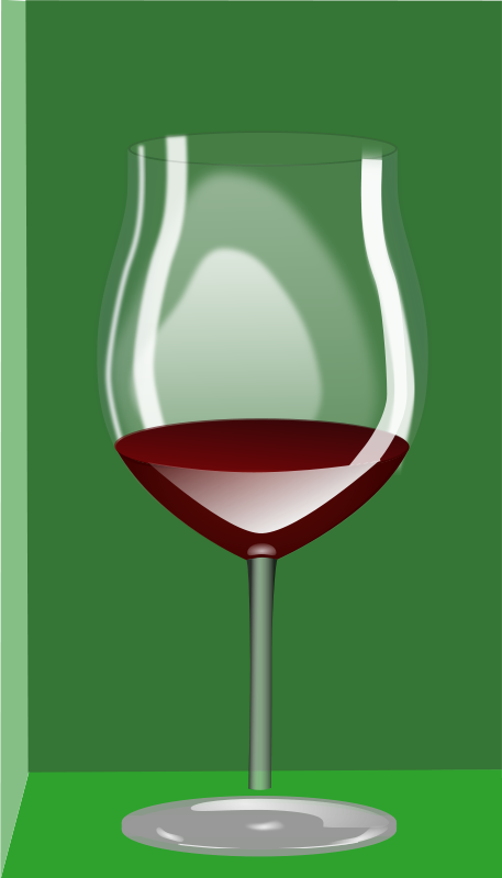 Free Clipart: Copa de vino.
