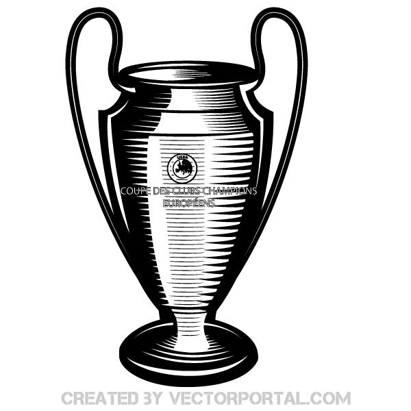 Champions League Cup Vector Art.