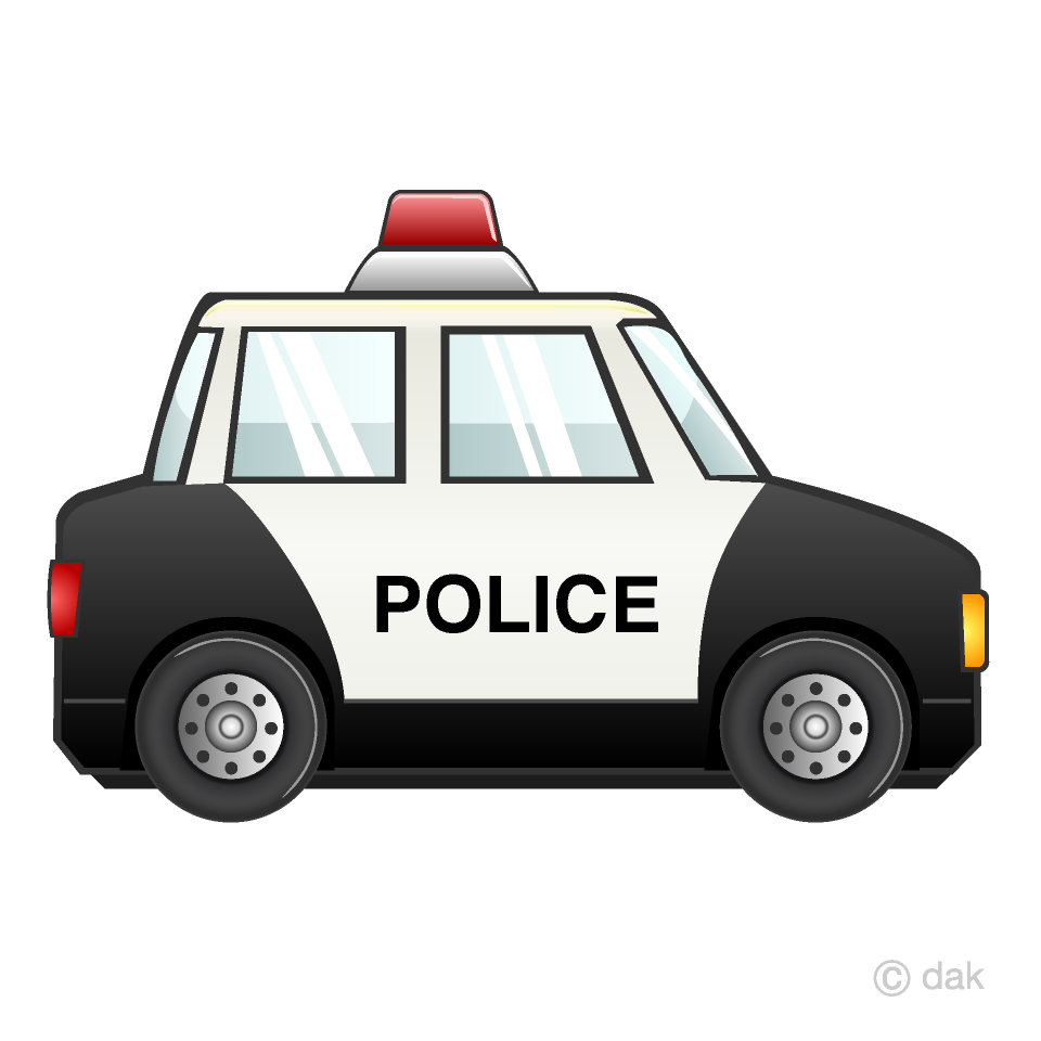 Free Police Car Clipart Image|Illustoon.