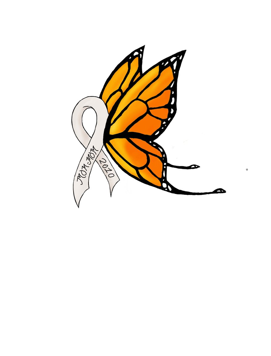Lung Cancer Ribbons Butterfly Tattoos free image.