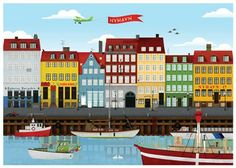 Dronning Louises bridge » Copenhagen » art » poster from.