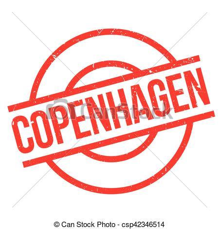 Clip Art Vecteur de caoutchouc, timbre, Copenhague.
