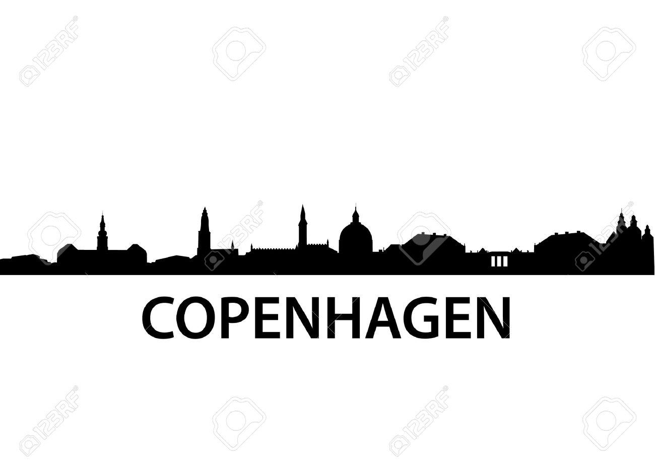 Silhouette De Vecteur Détaillée De Copenhague Clip Art Libres De.