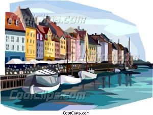 Copenhagen Vector Clip art.
