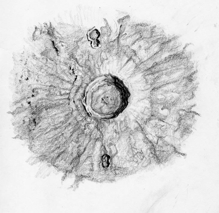 Moon Crater Drawing.
