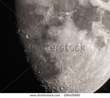 Moon Craters Stock Photos, Royalty.