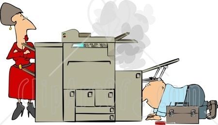 Broken copier clipart.