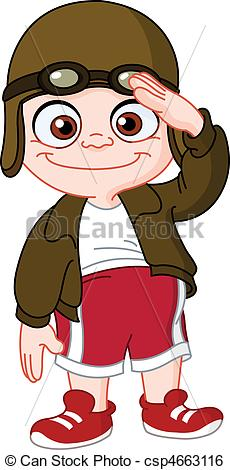 Clip Art Vector of Young pilot csp4663116.