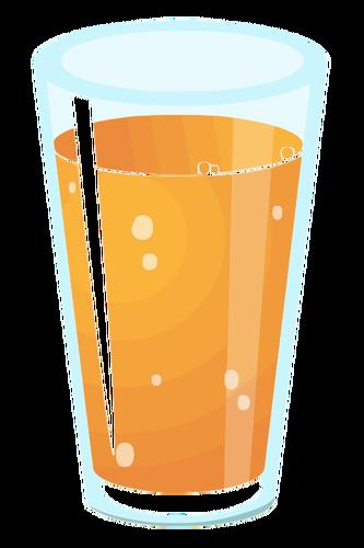 Gráficos de vetor realista de copo de suco.