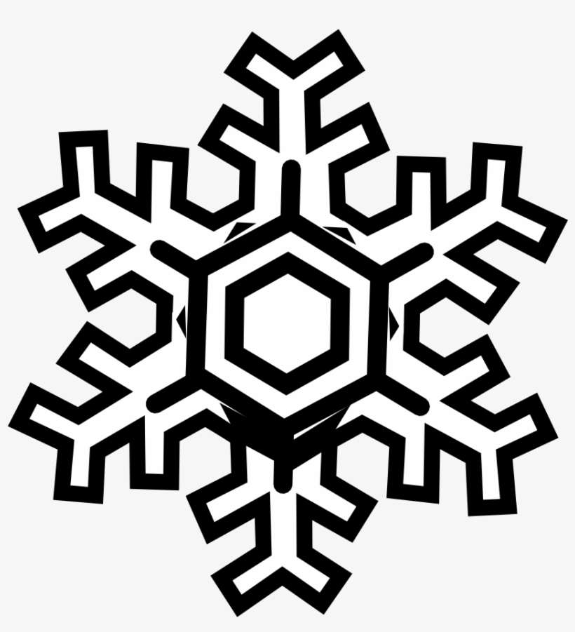 Snowman Black And White Snowflake Clipart Black And.