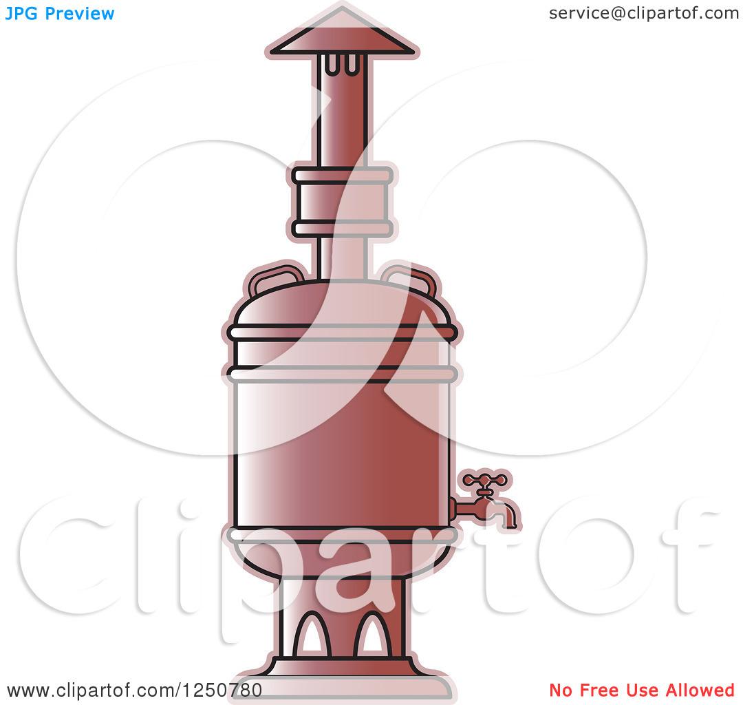 Clipart of a Copper Tea Boiler.