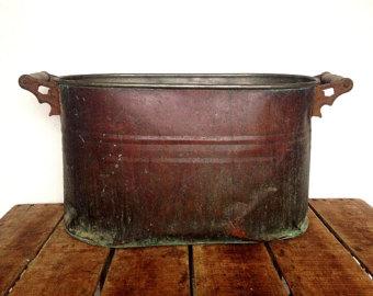 Vintage copper boiler.