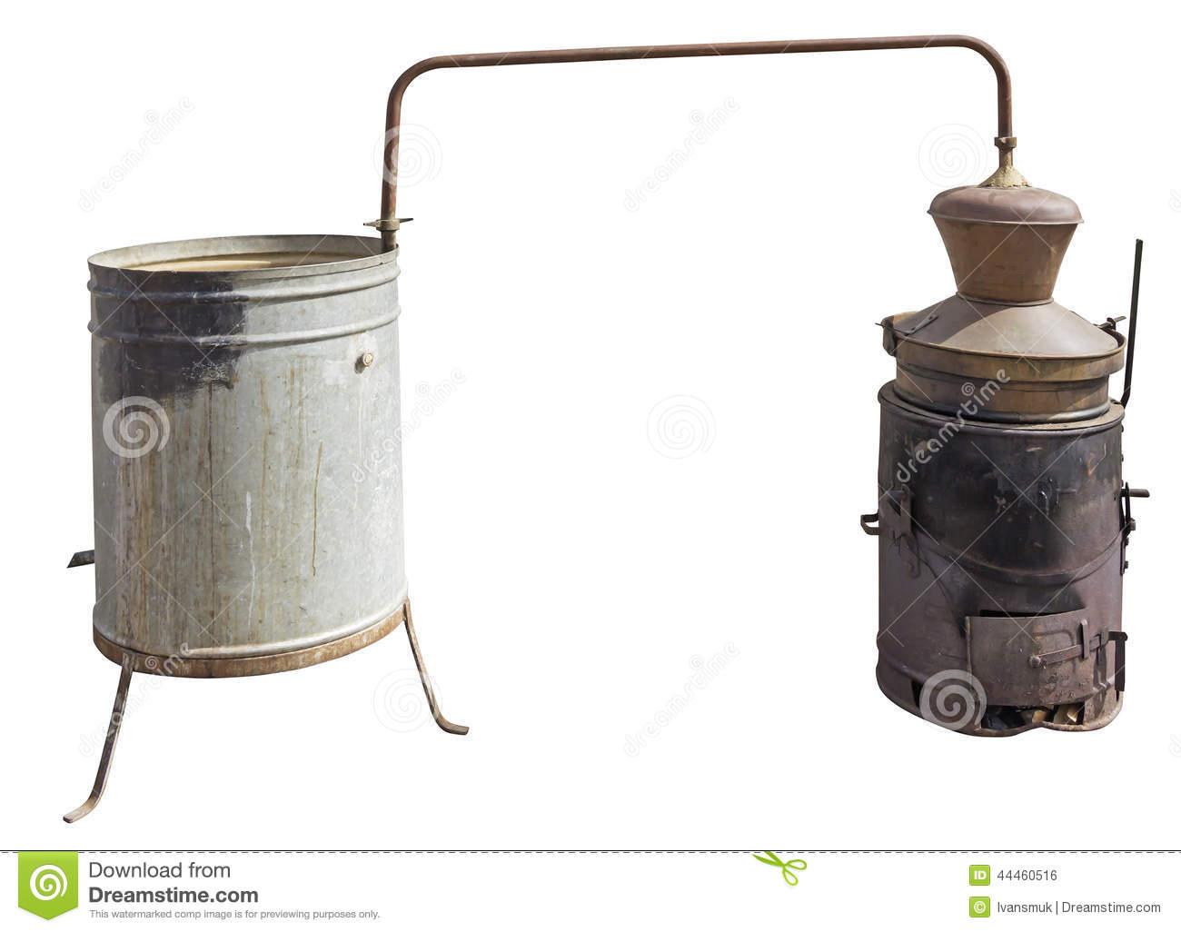 Copper Boiler Stock Photo.