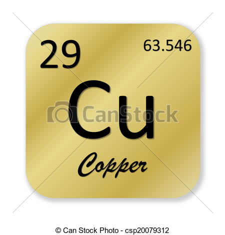 Clipart of Copper element.