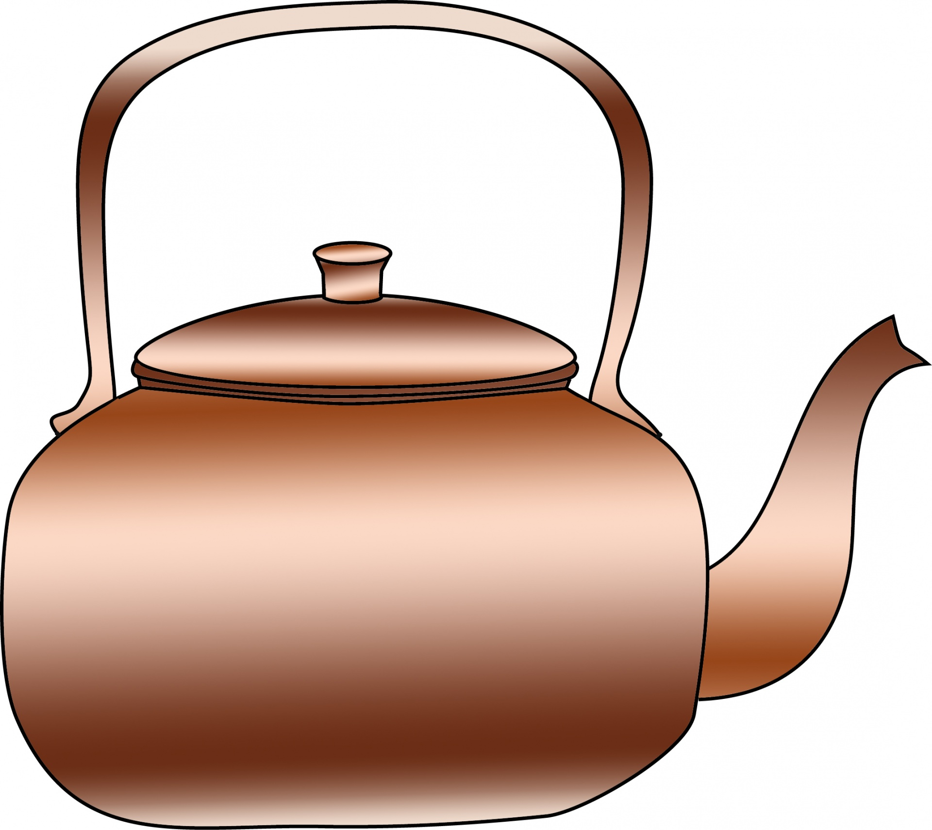 Copper Kettle Clipart Free Stock Photo.