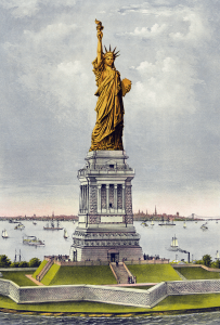 Liberty Statue Still Copper Color Clip Art Download.