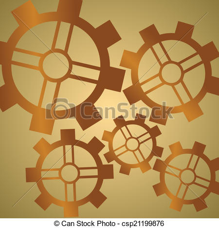 Vectors Illustration of Gear Pattern Copper.