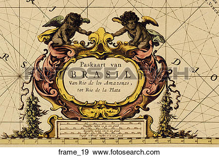 Stock Illustration of Antique Map Cartouche (hand.